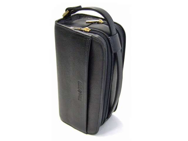 オリジン Wファスナーセカンドバッグ 「ゴールドファイル」 GA18035 縦置き