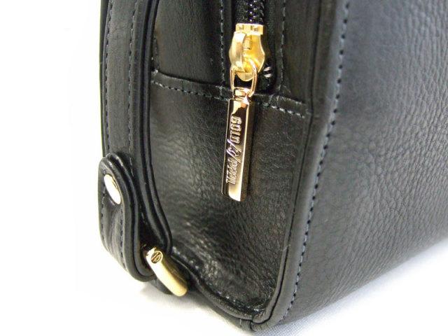 オリジン Wファスナーセカンドバッグ 「ゴールドファイル」 GA18035 側面拡大