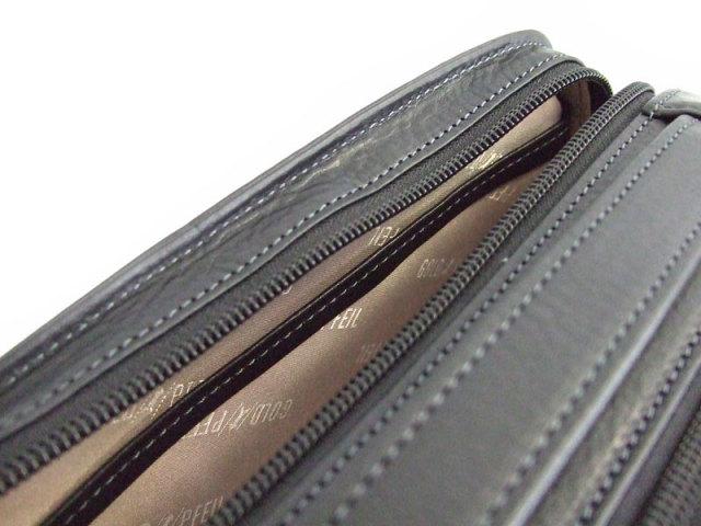 オリジン Wファスナーセカンドバッグ 「ゴールドファイル」 GA18035 内ポケット