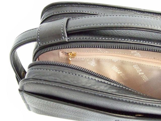 オリジン Wファスナーセカンドバッグ 「ゴールドファイル」 GA18035 内ファスナーポケット