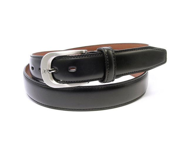 コードバン カーブベルト 30mm幅 ピン式 「ゴールドファイル」 GB57819 クロ 正面