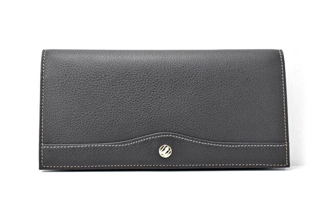オックスフォード 長財布(小銭入れなし) 「ゴールドファイル」 GP10025 ブラック 正面