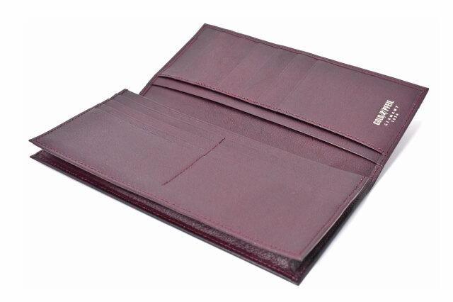 オックスフォード 長財布(小銭入れなし) 「ゴールドファイル」 GP10025 バーガンディ 内作り