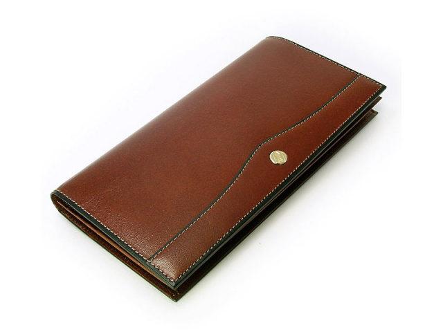 オックスフォード 長財布(小銭入れなし) 「ゴールドファイル」 GP10025 スコッチ 正面