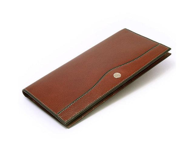 オックスフォード 薄型長財布(小銭入れなし) 「ゴールドファイル」 GP10123 スコッチ 正面