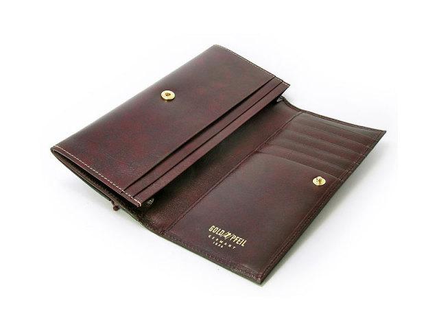 オックスフォード コンパクト長財布(小銭入れあり) 「ゴールドファイル」 GP10220 バーガンディ 内作り