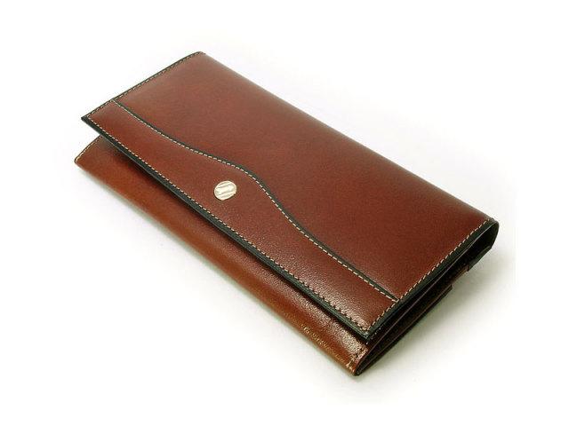 オックスフォード コンパクト長財布(小銭入れあり) 「ゴールドファイル」 GP10220 スコッチ 正面