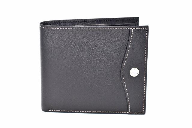 オックスフォード 二つ折り財布(小銭入れあり) 「ゴールドファイル」 GP10320 ブラック 正面