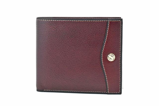 オックスフォード 二つ折り財布(小銭入れあり) 「ゴールドファイル」 GP10320 バーガンディ 正面