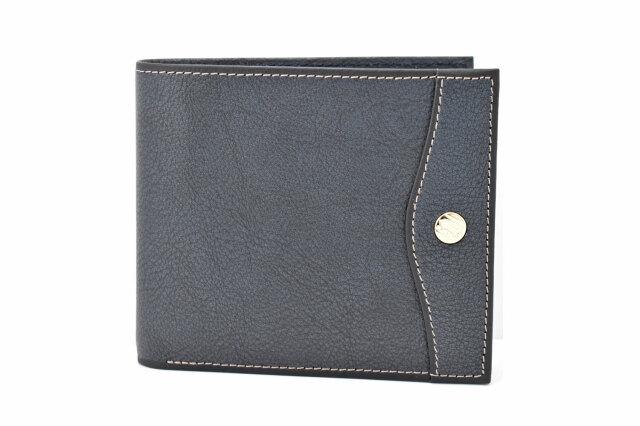 オックスフォード 二つ折り財布(小銭入れあり) 「ゴールドファイル」 GP10320 ネイビー 正面