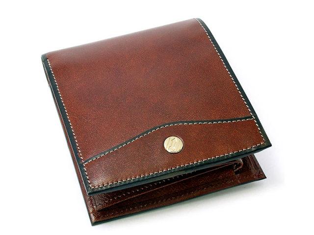 オックスフォード 二つ折り財布(小銭入れあり) 「ゴールドファイル」 GP10320 スコッチ 正面