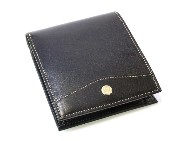 オックスフォード 二つ折り財布(BOX小銭入れあり) 「ゴールドファイル」 GP10420 ブラック 正面