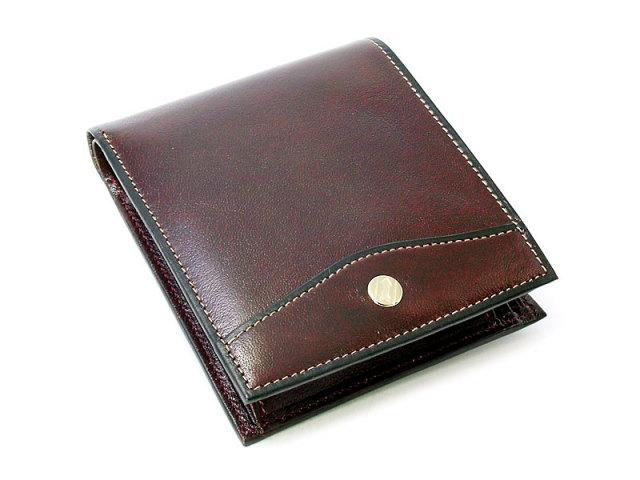 オックスフォード 二つ折り財布(BOX小銭入れあり) 「ゴールドファイル」 GP10420 バーガンディ 正面