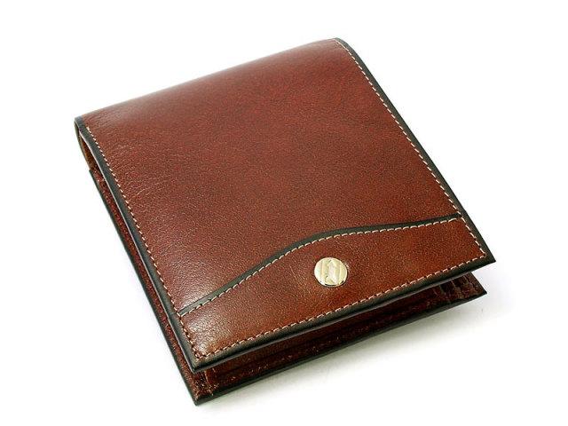 オックスフォード 二つ折り財布(BOX小銭入れあり) 「ゴールドファイル」 GP10420 スコッチ 正面
