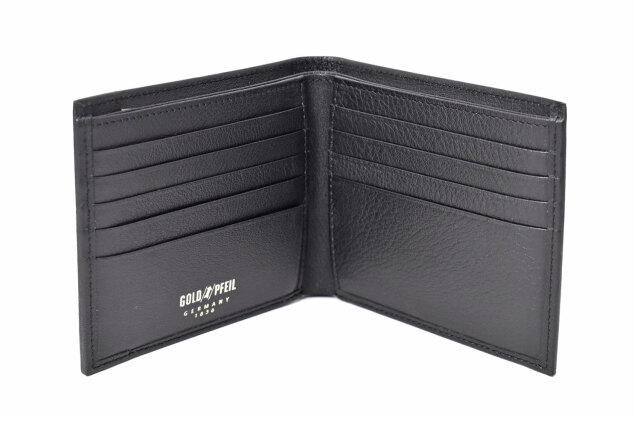 オックスフォード 二つ折り財布(小銭入れなし) 「ゴールドファイル」 GP10518 ブラック 内作り