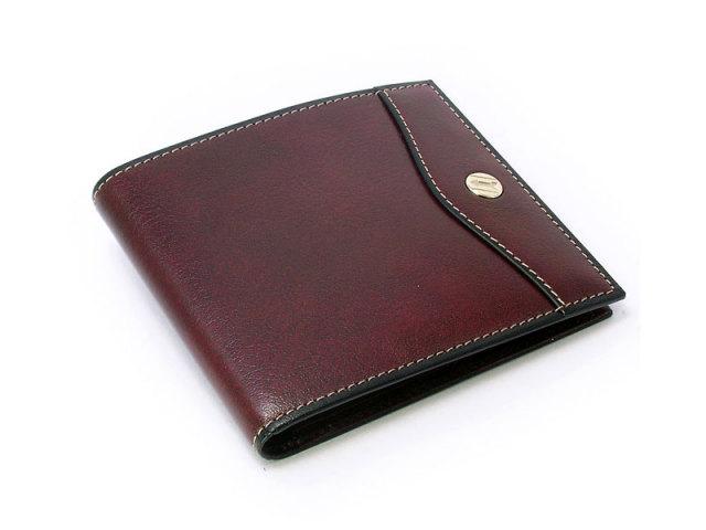 オックスフォード 二つ折り財布(小銭入れなし) コンパクト財布   「ゴールドファイル」 GP11410 バーガンディ 正面