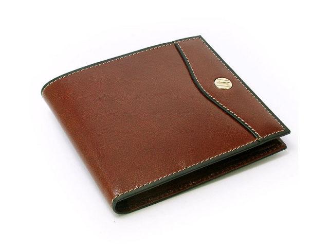 オックスフォード 二つ折り財布(小銭入れなし) コンパクト財布   「ゴールドファイル」 GP11410 スコッチ 正面