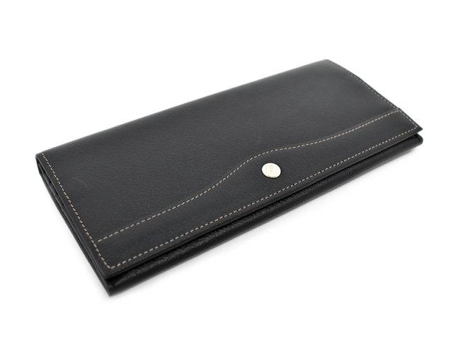オックスフォード 長財布(小銭入れあり) 「ゴールドファイル」 GP11923 ブラック 正面