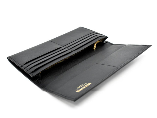 オックスフォード 長財布(小銭入れあり) 「ゴールドファイル」 GP11923 ブラック 内作り