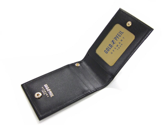 オックスフォード IDカードケース&ストラップ 「ゴールドファイル」 GP12015 ブラック 内作り