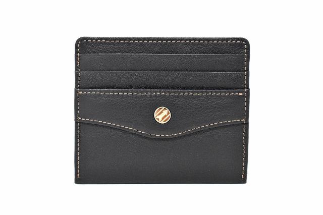 オックスフォード コンパクト財布 「ゴールドファイル」 GP12112 ブラック 正面