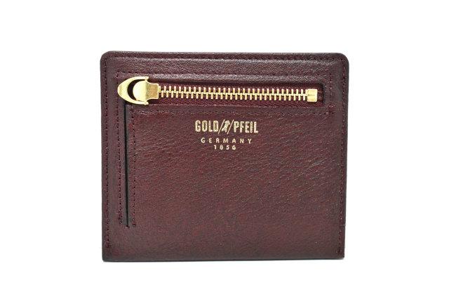 オックスフォード コンパクト財布 「ゴールドファイル」 GP12112 バーガンディ 裏面