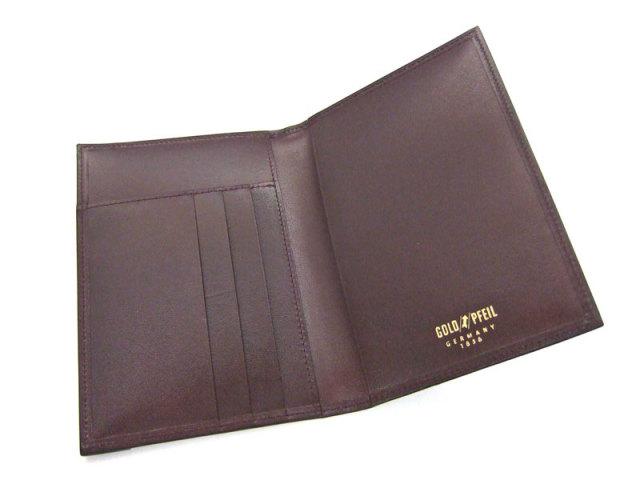 オックスフォード パスポートケース 「ゴールドファイル」 GP12118 バーガンディ 内作り