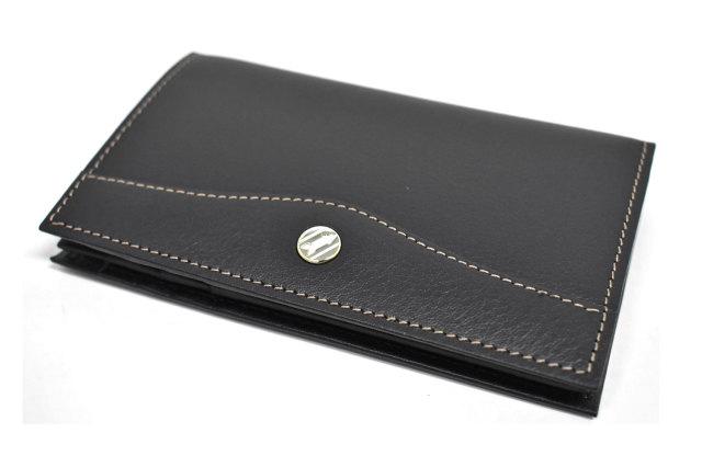 オックスフォード カードケース「ゴールドファイル」 GP12218 ブラック 正面