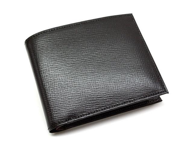 ヘリテージ 二つ折り財布(小銭入れあり) 「ゴールドファイル」 GP23120 ブラック 正面