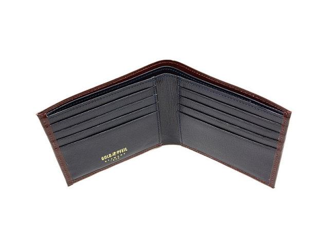 ヘリテージ 二つ折り財布(小銭入れなし) 「ゴールドファイル」 GP23219 バーガンディ 内作り