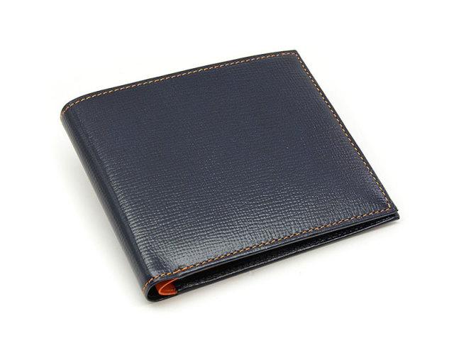 ヘリテージ 二つ折り財布(小銭入れなし) 「ゴールドファイル」 GP23219 オレンジ 正面
