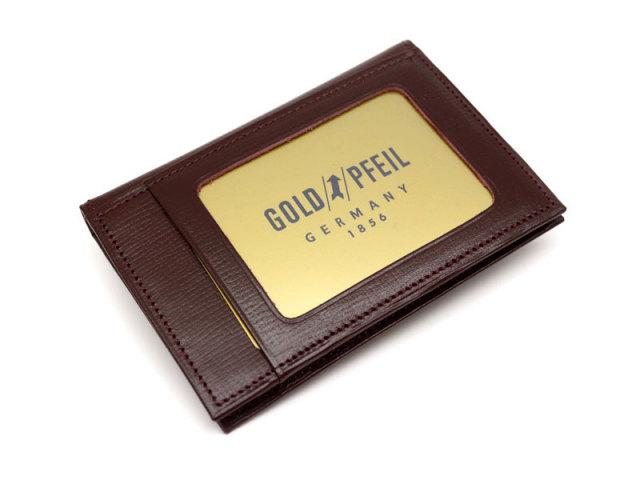 ヘリテージ パスケース 「ゴールドファイル」 GP23411 バーガンディ 裏面