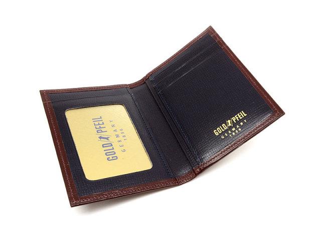 ヘリテージ パスケース 「ゴールドファイル」 GP23411 バーガンディ 内作り