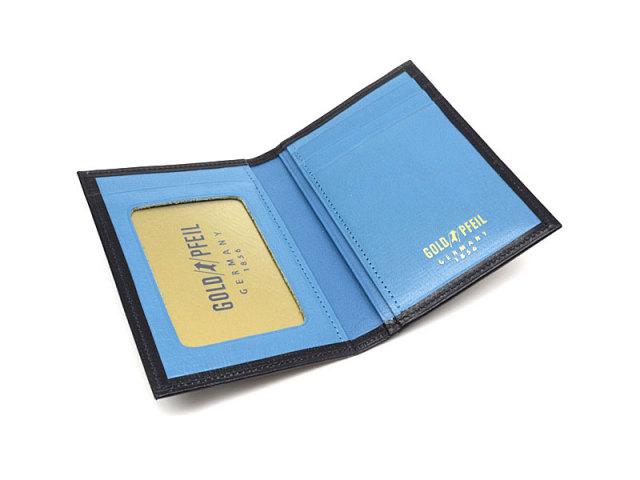 ヘリテージ パスケース 「ゴールドファイル」 GP23411 ネイビー 内作り