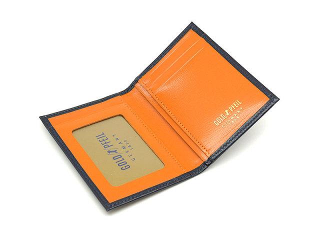 ヘリテージ パスケース 「ゴールドファイル」 GP23411 オレンジ 内作り