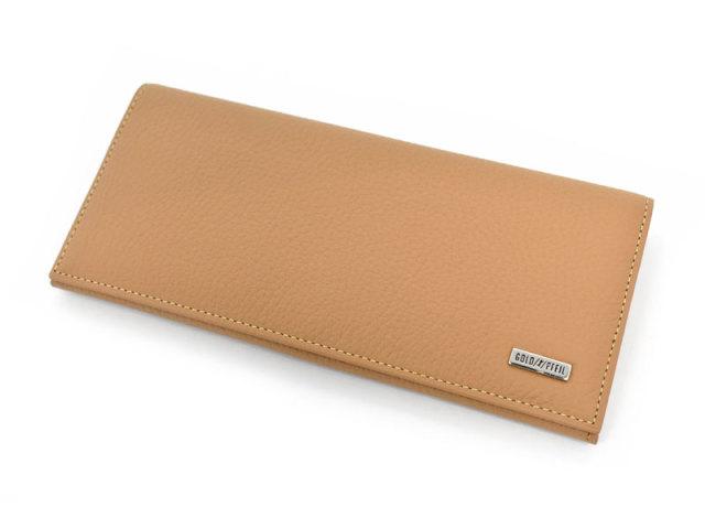 Superior(スペリオール) 長財布(小銭入れあり)  「ゴールドファイル」 GP24118 マロン 正面