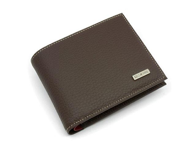 Superior(スペリオール) 二つ折り財布(小銭入れあり)  「ゴールドファイル」 GP24217 ダークブラウン 正面