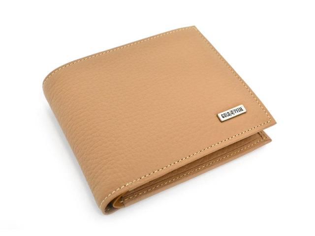 Superior(スペリオール) 二つ折り財布(小銭入れあり)  「ゴールドファイル」 GP24217 マロン 正面