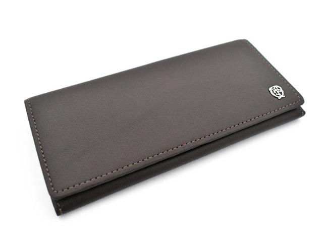 Wilhelm(ウィルヘルム) 長財布(小銭入れあり) 「ゴールドファイル」 GP25119 ダークブラウン 正面