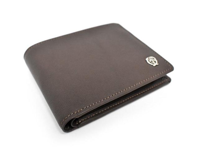 Wilhelm(ウィルヘルム) 二つ折り財布(小銭入れあり) 「ゴールドファイル」 GP25217 ダークブラウン 正面