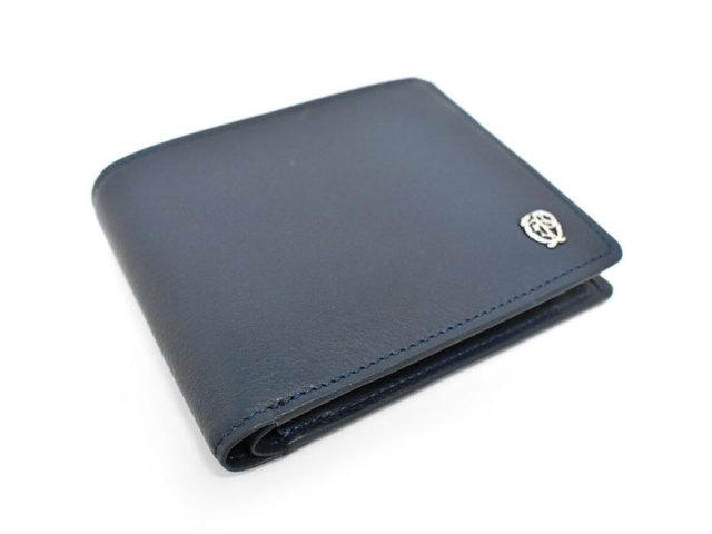 Wilhelm(ウィルヘルム) 二つ折り財布(小銭入れあり) 「ゴールドファイル」 GP25217 ネイビー 正面
