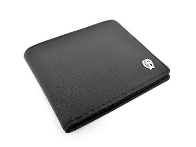 Wilhelm(ウィルヘルム) 二つ折り財布(小銭入れなし) 「ゴールドファイル」 GP25315 ブラック 正面