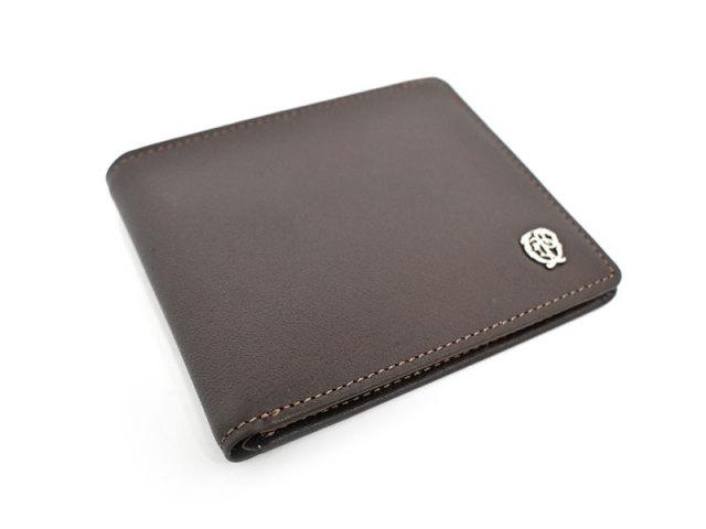 Wilhelm(ウィルヘルム) 二つ折り財布(小銭入れなし) 「ゴールドファイル」 GP25315 ダークブラウン 正面