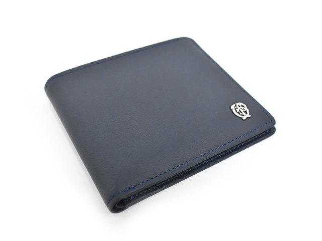 Wilhelm(ウィルヘルム) 二つ折り財布(小銭入れなし) 「ゴールドファイル」 GP25315 ネイビー 正面