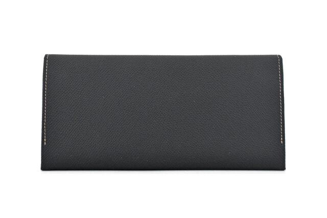 フリードリヒ 長財布(小銭入れあり) 「ゴールドファイル」 GP26030 ブラック 裏面