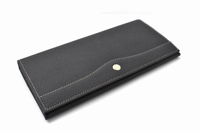 フリードリヒ 長財布(小銭入れあり) 「ゴールドファイル」 GP26030 ブラック 正面