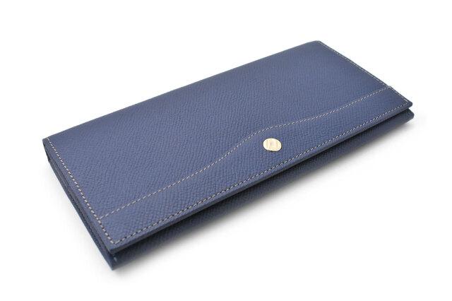フリードリヒ 長財布(小銭入れあり) 「ゴールドファイル」 GP26030 ブルー 正面