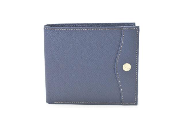 フリードリヒ 二つ折り財布(小銭入れあり) 「ゴールドファイル」 GP26125 ブルー 正面
