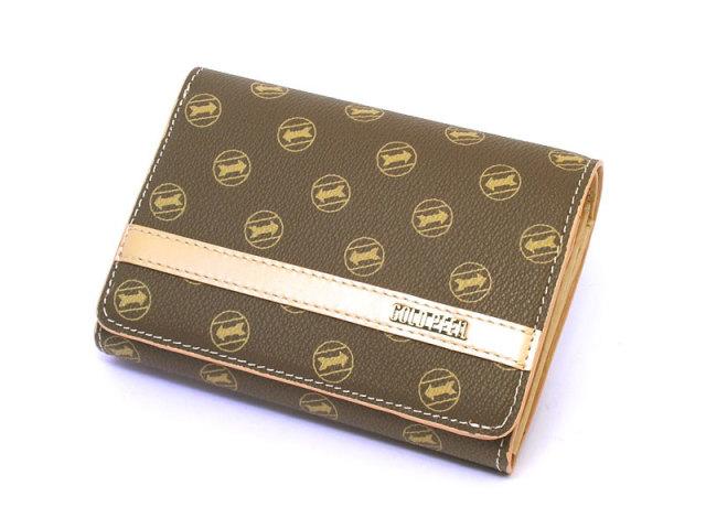 Signature(シグネチャー) 二つ折り財布(小銭入れあり) 「ゴールドファイル」 GP34213 シャンパンゴールド 正面