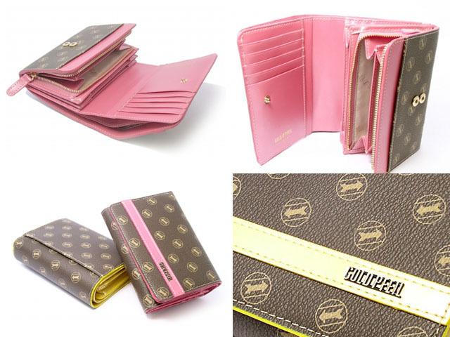 シグネチャー 二つ折り財布(小銭入れあり) 「ゴールドファイル」 GP34213 4コマ